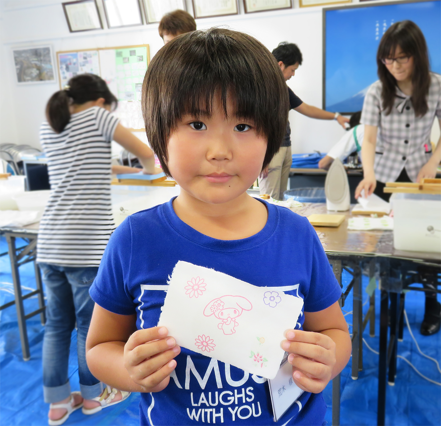 丸富製紙夏休み親子工場見学会2017