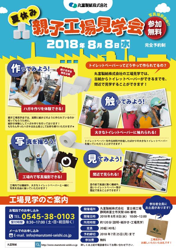 夏休み親子工場見学会2018