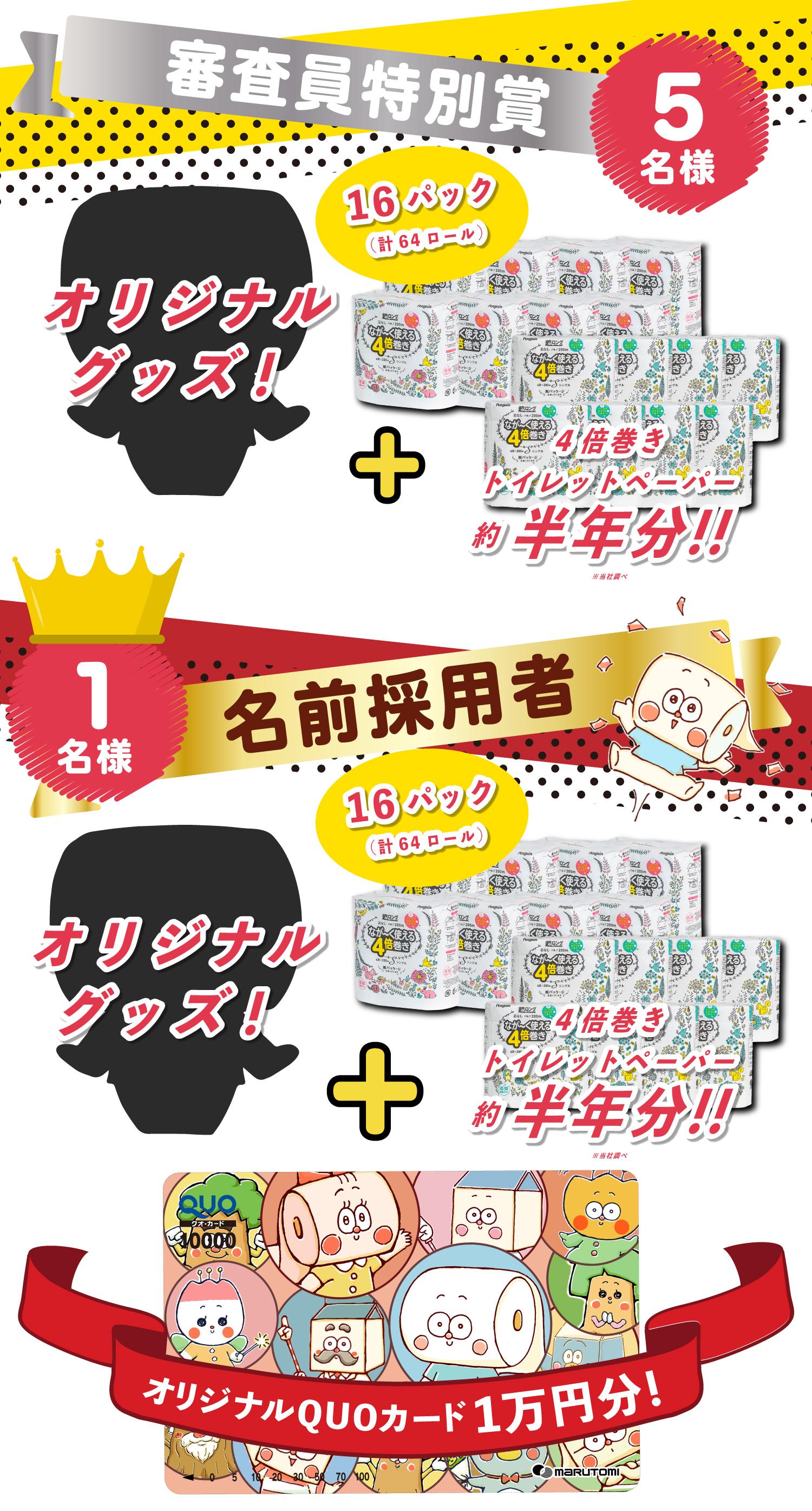 名前募集キャンペーン プレゼント賞品