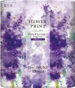 花束 フラワープリント ラベンダー 18R ダブル